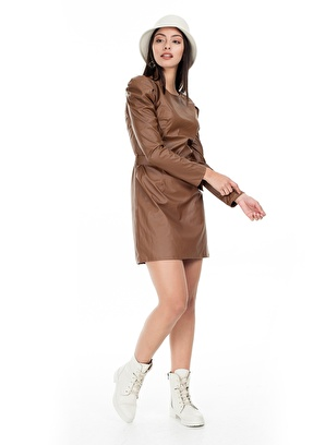 Lela Elbise 5553686 Lela Kemerli Mini Elbise Kadın E